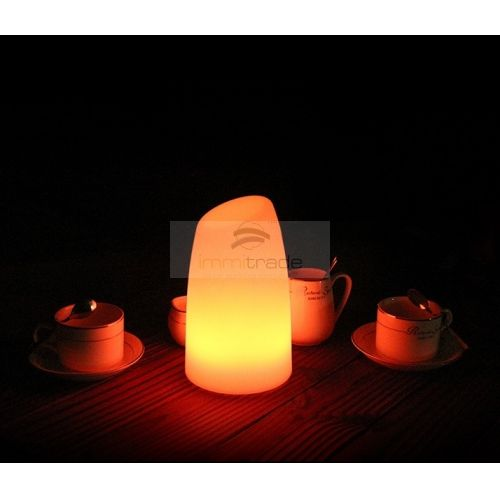 Led Mood Light Table Lamp Bar Shape D12xh20cmusb Cable Rechargeable