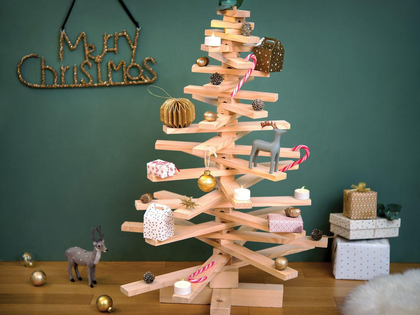 Diy Un Sapin Nature En Bois Deco Noel No L Et D Co