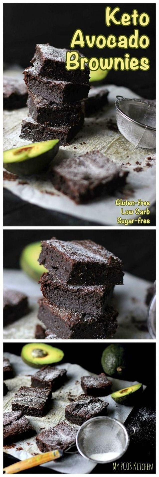My PCOS Kitchen - Keto Avocado Brownies - Diese schokoladigen Brownies sind ... -