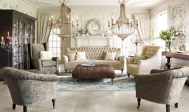 Superbe Arhaus Furniture   At First Sight, My Soul Sighed And Asked For Sanctuary  In This Room!! LOVE The Chandeliers And The Color Palate.