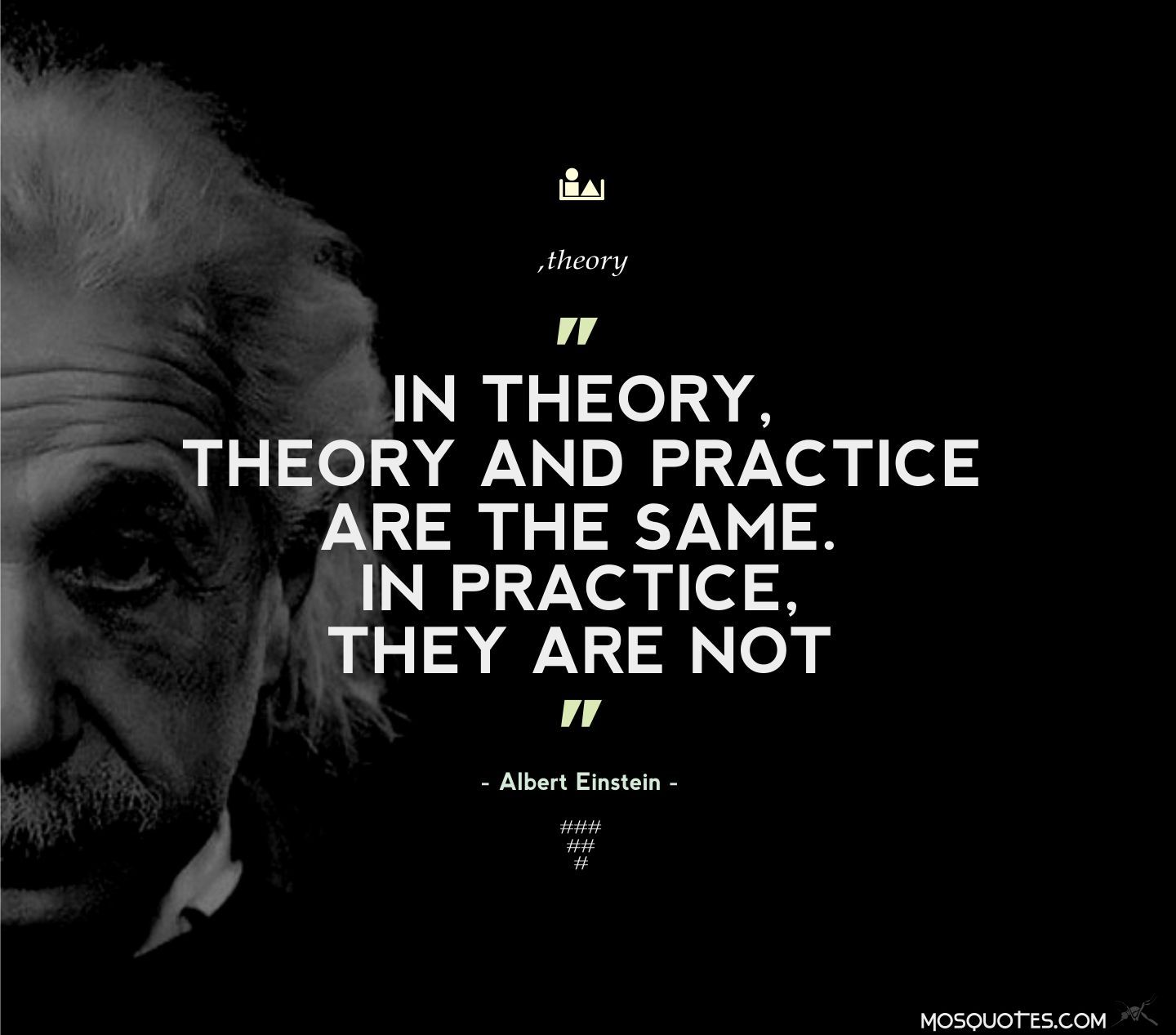 Albert Einstein Life Quotes In Theory Theory And Practice Are The