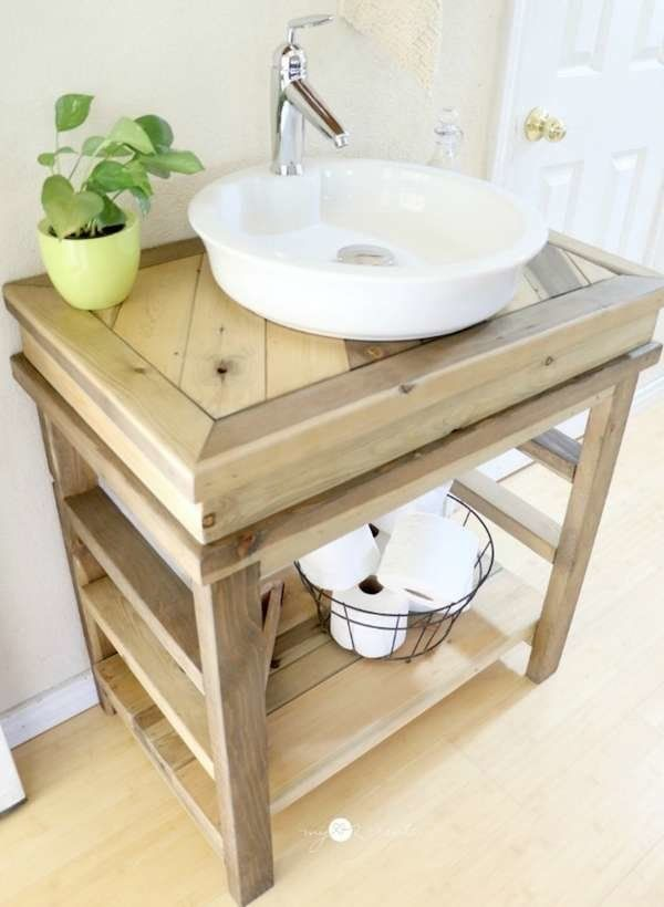 Make Your Own Vanity 12 Inventive Bathroom Rehabs Small Bathroom Vanities Diy Bathroom Vanity Rustic Bathroom Vanities