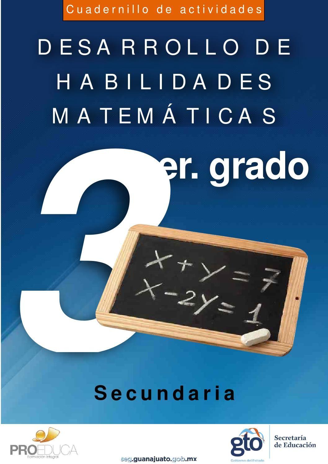 Cuadernillo Mat 3 Sec Web Habilidades Matemáticas Matemáticas De Escuela Secundaria Juegos Matematicos Secundaria