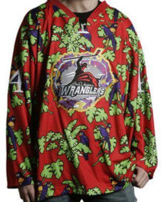 c8f6e0248da Hockey Teams in Hawaiian shirts? I don't think so. Las Vegas Wranglers.