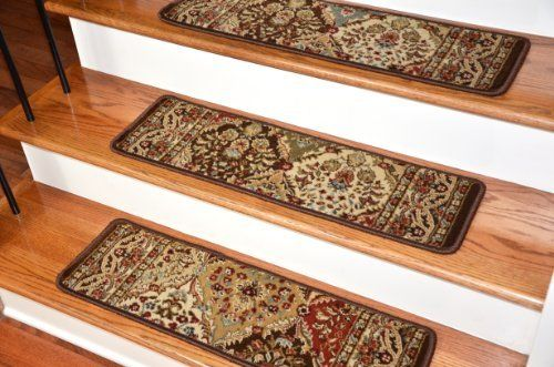 Best Dean Premium Carpet Stair Treads Panel Kerman Chocolate 400 x 300