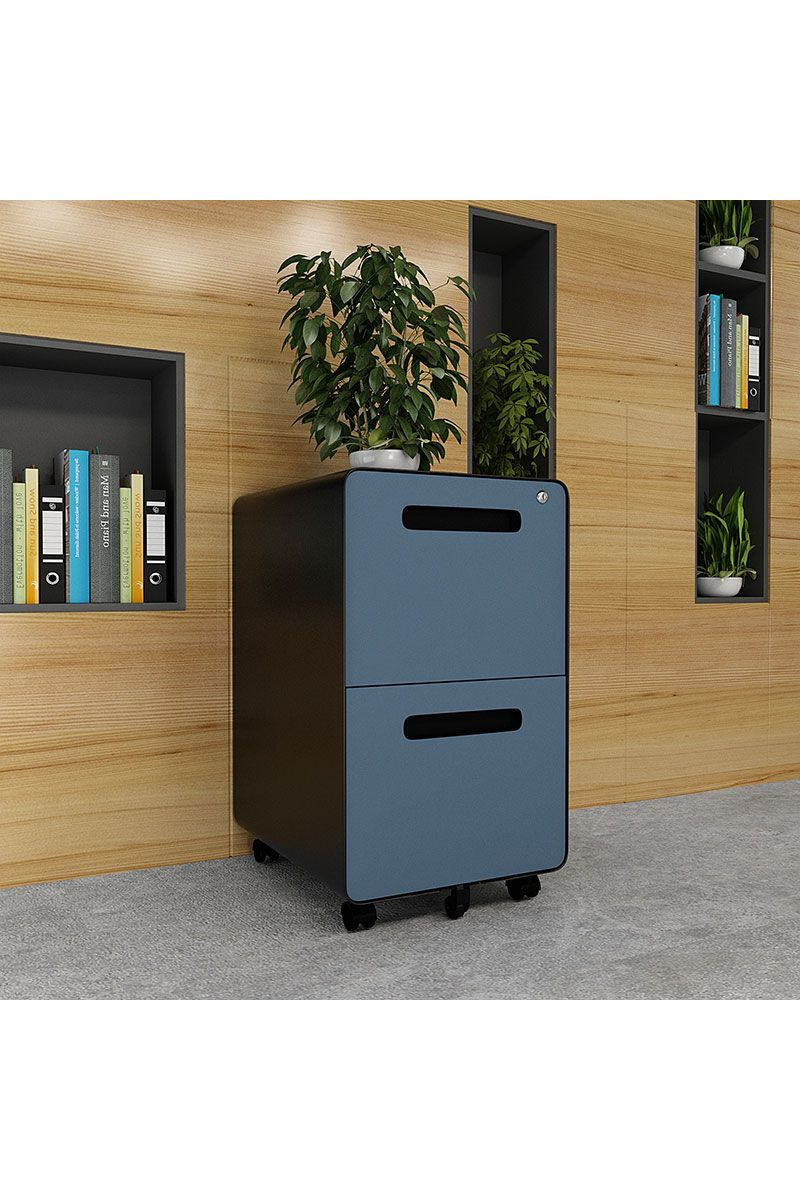 File Cabinet Storage Cabinet With 2 Drawers Interlock System Round Edge Fully Assembled Blue Ashes Filing Cabinet Metal Filing Cabinet Cabinet 2 drawer metal file cabinet