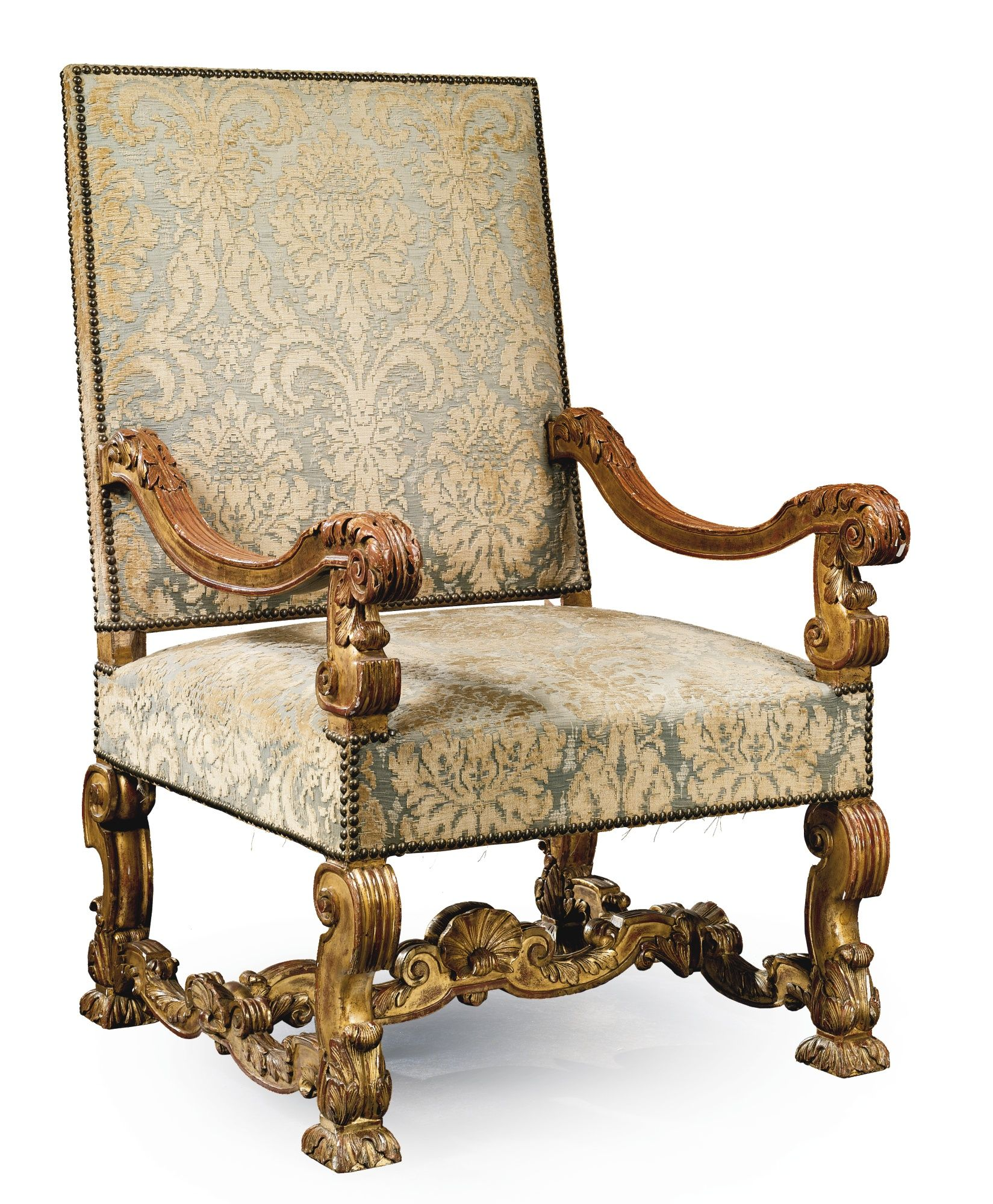 Styles Fauteuils A Louis Xiv Style Carved Giltwood Fauteuil Br Late 19th Early 20th