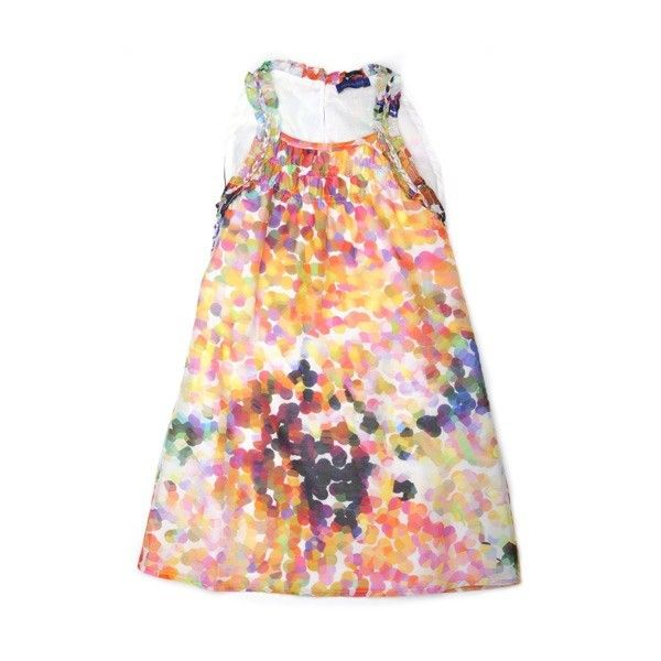 It would be fun to use fabric paint and create my own cotton print to make a dress like this.
