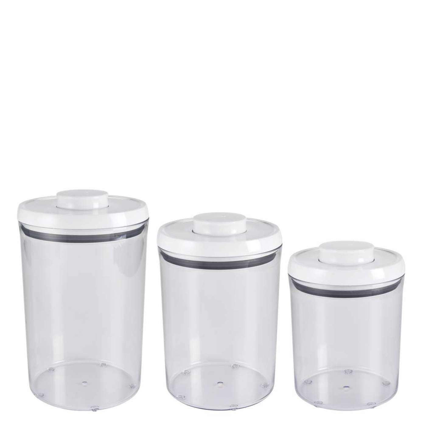 4 Qt Large Holds 1 Bag Flour 3 Piece Pop Round Canister Set Oxo Canister Sets Food Storage Containers Good Grips