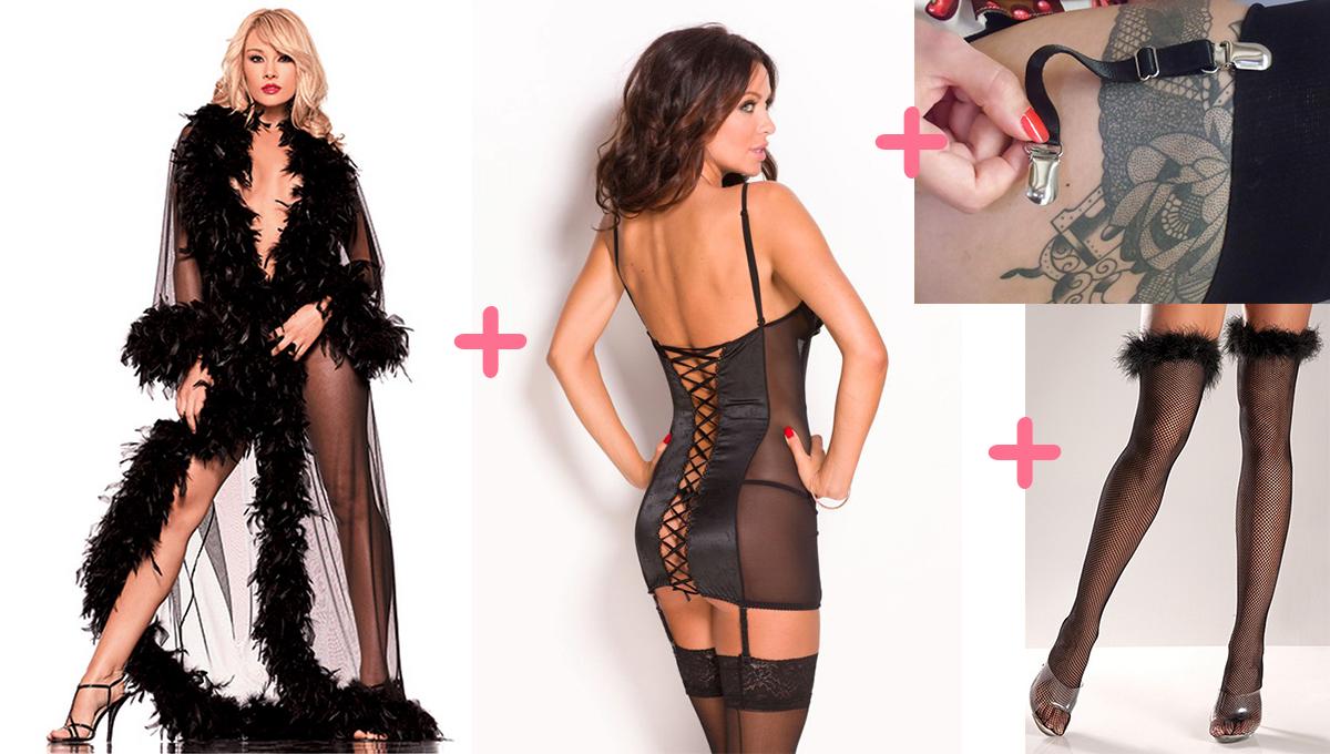 Déshabillé glamour + guêpière sexy + porte-jarretelles rétro + bas burlesques = une pin-up à croquer <3 http://bit.ly/nuisettes-pimp #deshabille #nightgown #robedechambre #peignoir #guepiere #basque #sexy #glamour #portejarretelles #garters #suspenders #retro #bas #stockings #burlesque #pinup