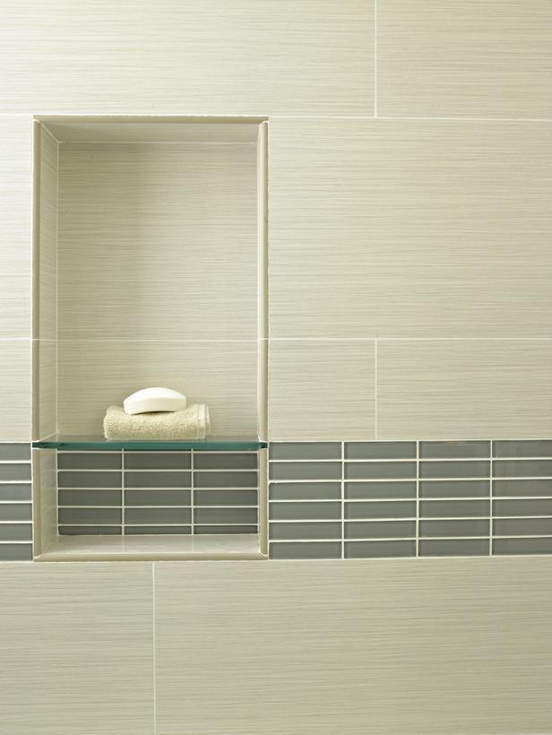 Bathroom Niches | Glass Shelf Within Shower Wall Niche | Bathroom