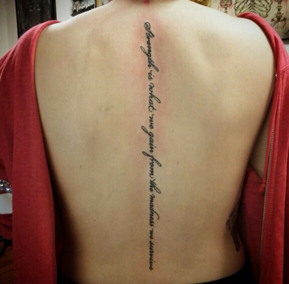 Spine Tattoos Quotes New Pin By Marisa Gonzalez On