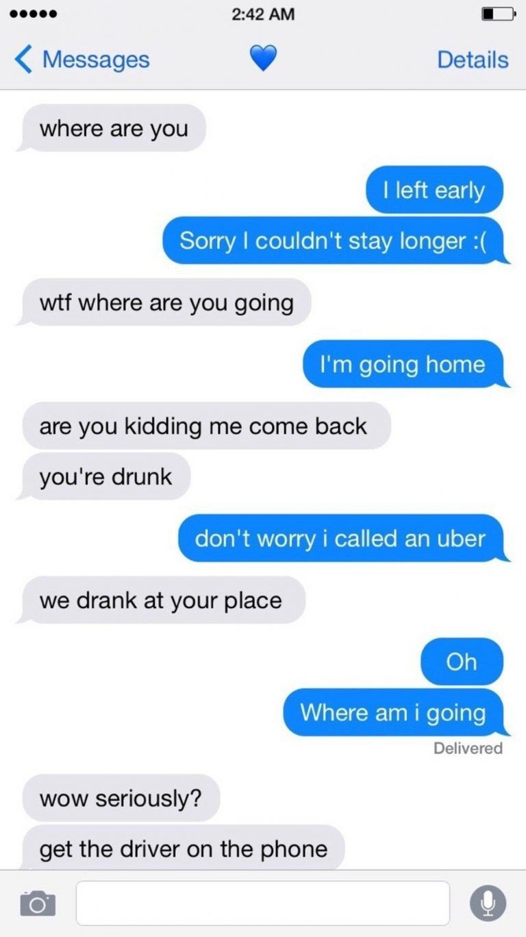 It may be fake. But if not, this is the best drunk conversation I have ever read. - LolSnaps