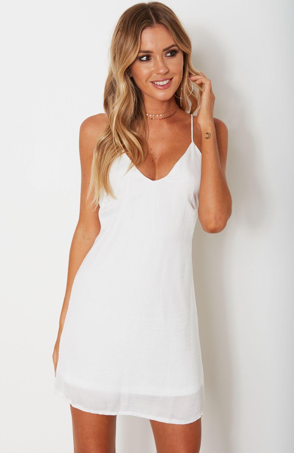 Breakaway slip dress white white slip dress tank top