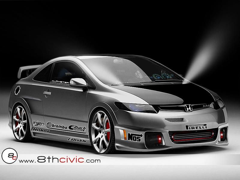 Civic Classic Sedan Black Olx: Grey Honda Civic #custom #modified #8th Gen ♠... X Bros