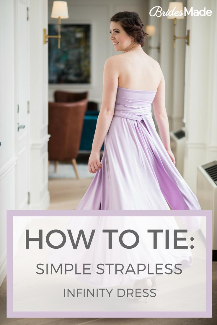 Simple strapless infinity dress pinterest infinity dress