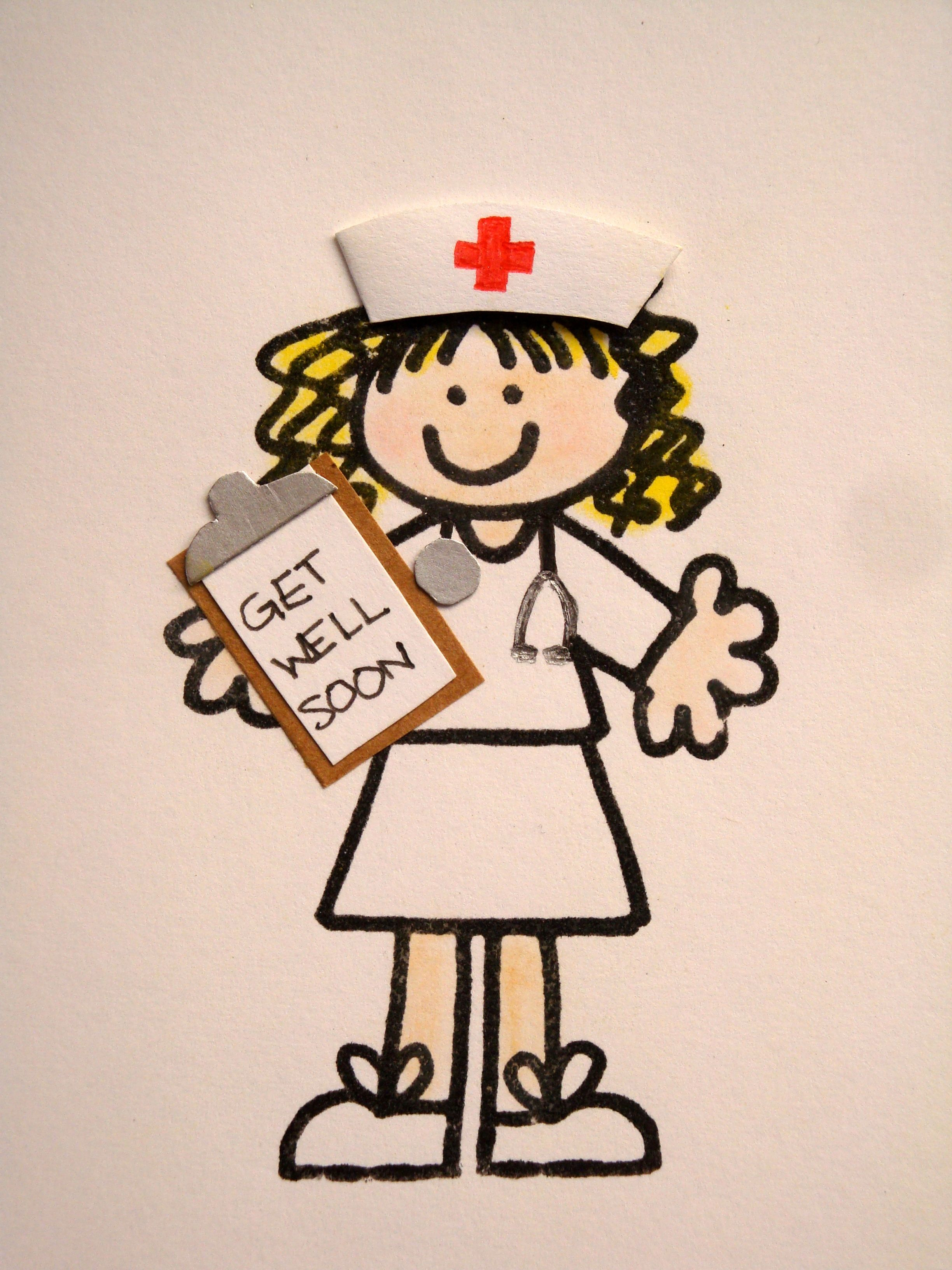Stick figure re-purpose to Get Well Card