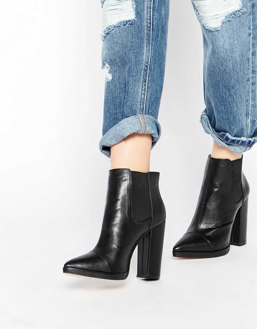 image 1 - asos - easy to know - bottines chelsea pointues | shoes