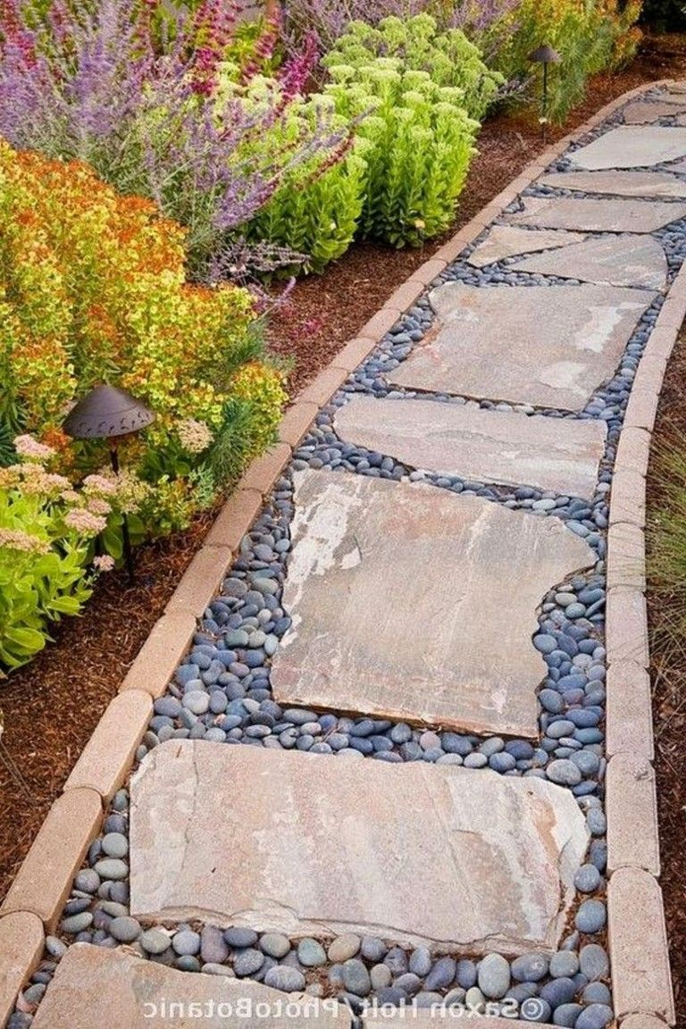90 Lovely Garden Path and Walkways Design Ideas is part of Beautiful garden Walkways - Garden route and Walkways are a vital part of almost every garden landscape  If you are thinking about shifting your garden landscape, consider it  This gallery provides quite easy short walkway simple housed cement tiles in addition to white river… Continue Reading →