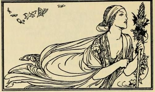 Robert Anning Bell. Illustration from Poems by John Keats.