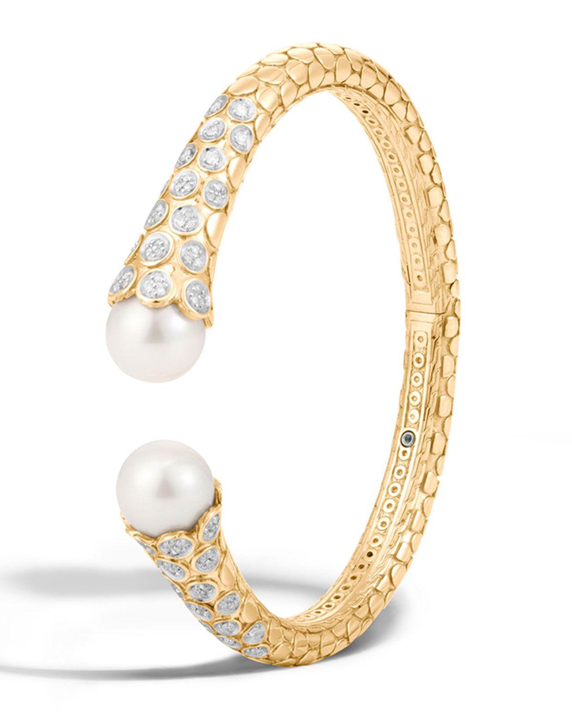 Dot medium k diamond u pearl kick cuff bracelet womenus size m