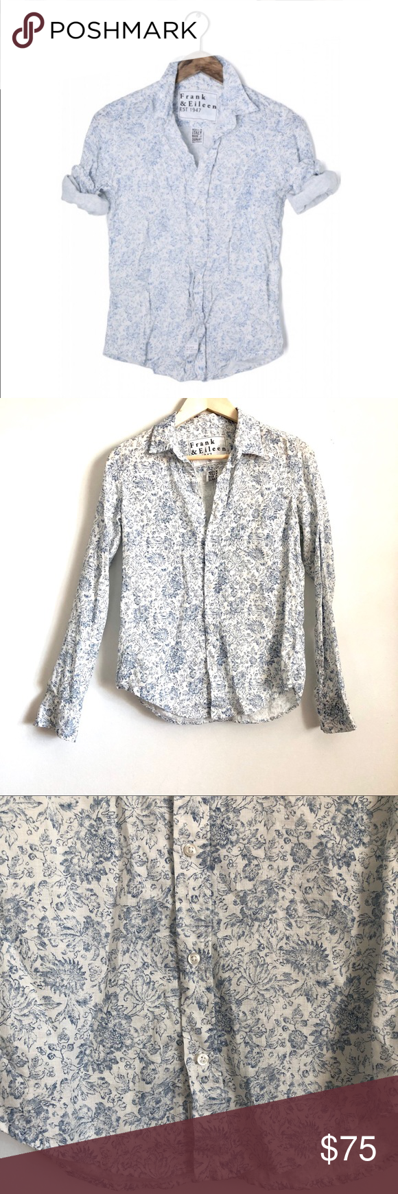 2ae3bc55 Frank & Eileen - Barry floral Button Down Top 40-121 Frank & Eileen Barry