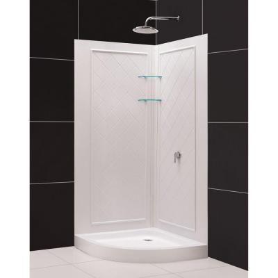 Dreamline Dreamline Prime 33 X 76 75 Round Sliding Shower Enclosure With Base Included Shower Enclosure Corner Shower Enclosures Shower Base