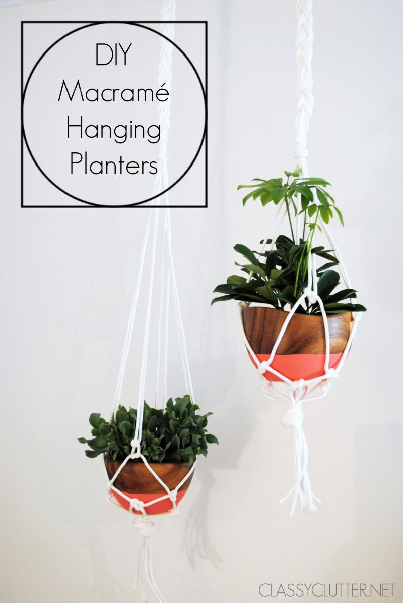 DIY Macram Hanging Planter DIY Macram Hanging
