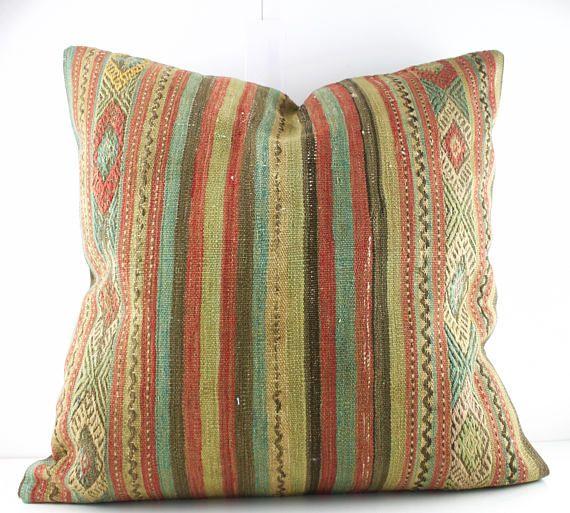 24x24 Kilim Floor Pillow Kilim Floor Pillow Decorative Pillow Kilim ...