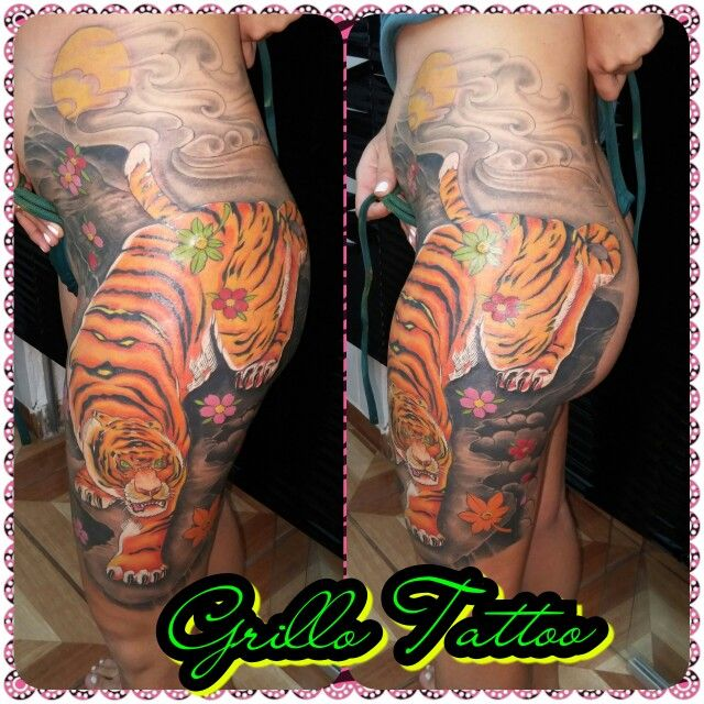 Tigre trabalho do grillo tattoo