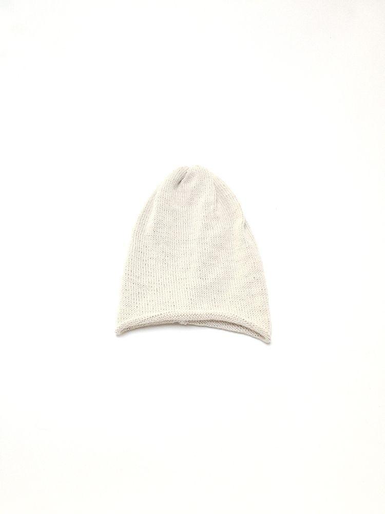 MUJI Ribbed 100/% Wool Lightweight Beanie Toque Hat LIGHT GREY Toque UNISEX