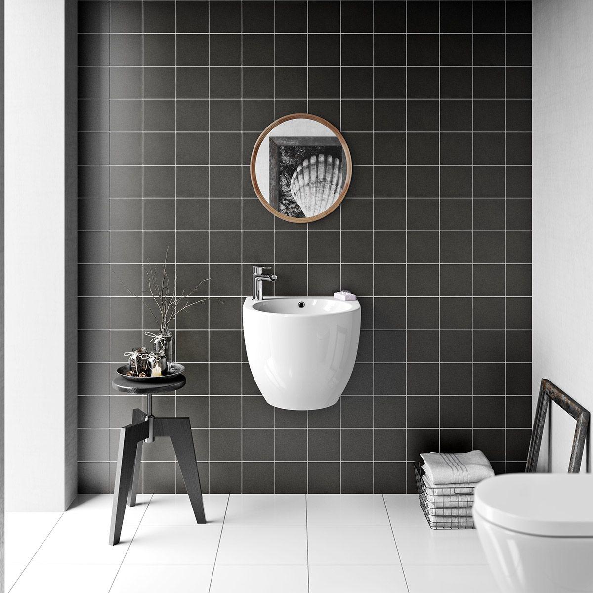 British Ceramic Tile Patchwork Plain Dark Grey Matt Tile 142mm X 142mm Patchwork Tiles Grey Wall Tiles Ceramic Wall Tiles