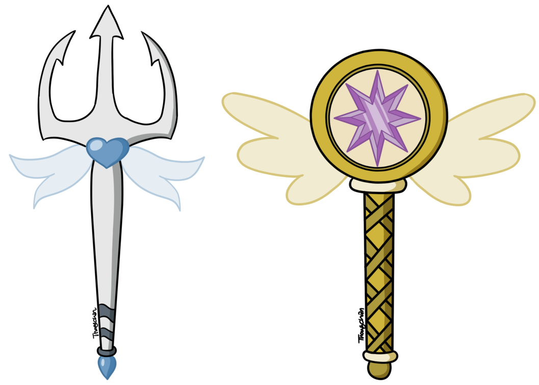 The Wands Of Galene And Vega Butterfly By Thongchan