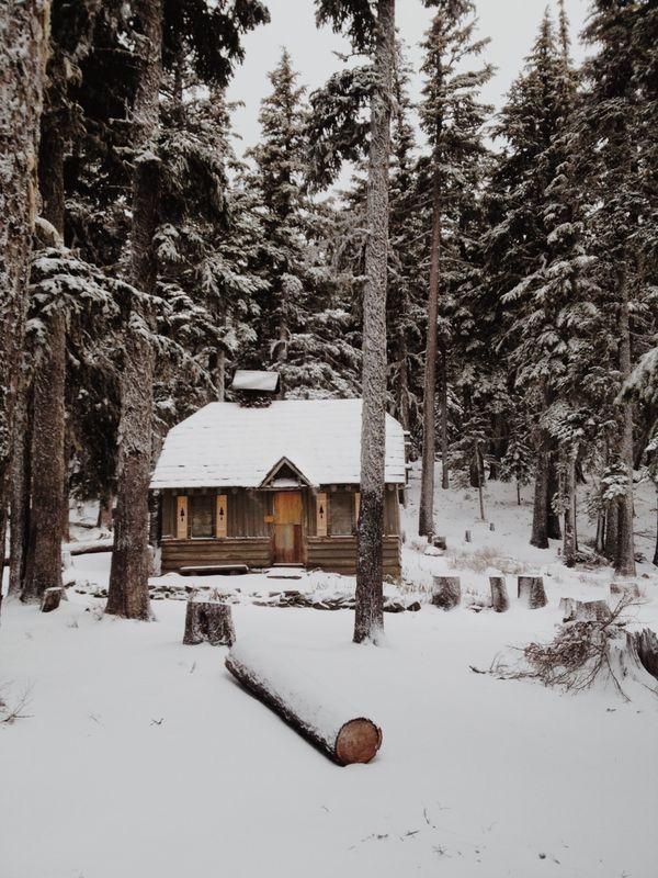 Un porche la nieve y yo la caba a caba as de troncos - Cabanas de madera en la nieve ...