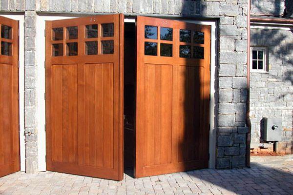swinging carriage doors to replace overhead garage doors ...