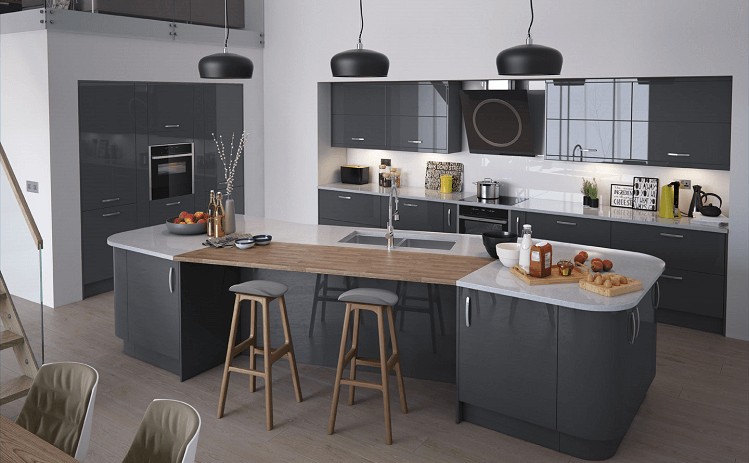 The Pros of Grey Gloss Kitchen Doors Kitchens, bedrooms