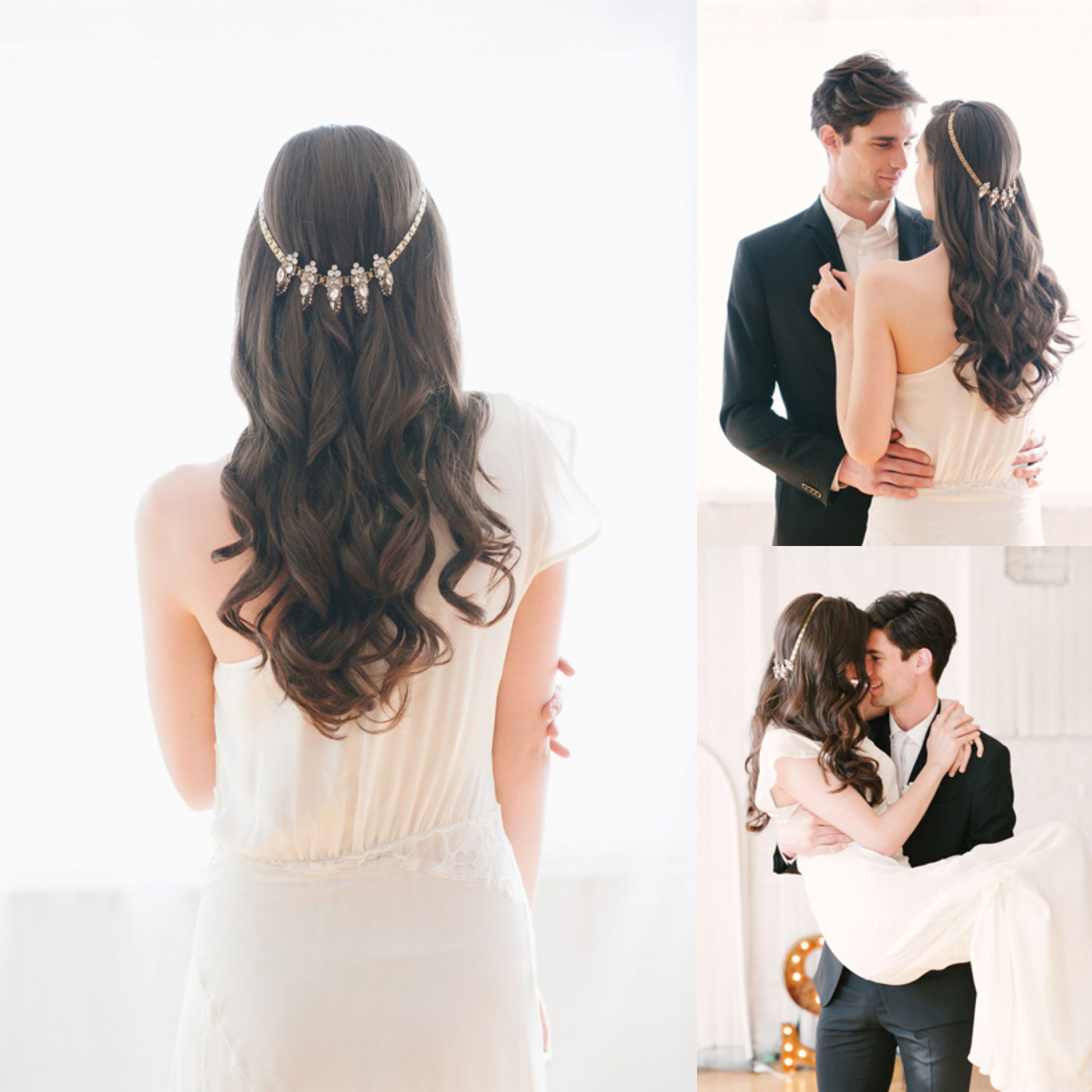 Wedding Hair: A Jeweled Necklace Crown | Crown, Unique wedding ...