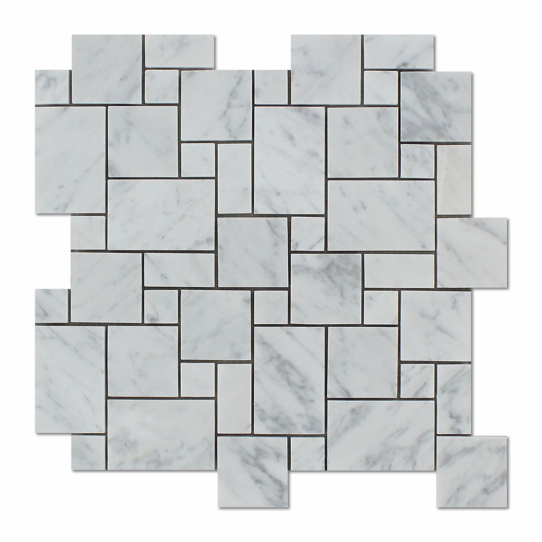 Carrara white marble honed mini versailles mosaic tile white buy carrara white marble honed mini versailles mosaic tile sample product attributes item premium dailygadgetfo Images