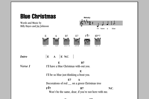 Guitar guitar tabs xmas : Image result for blue christmas lyrics and chords | Christmas ...
