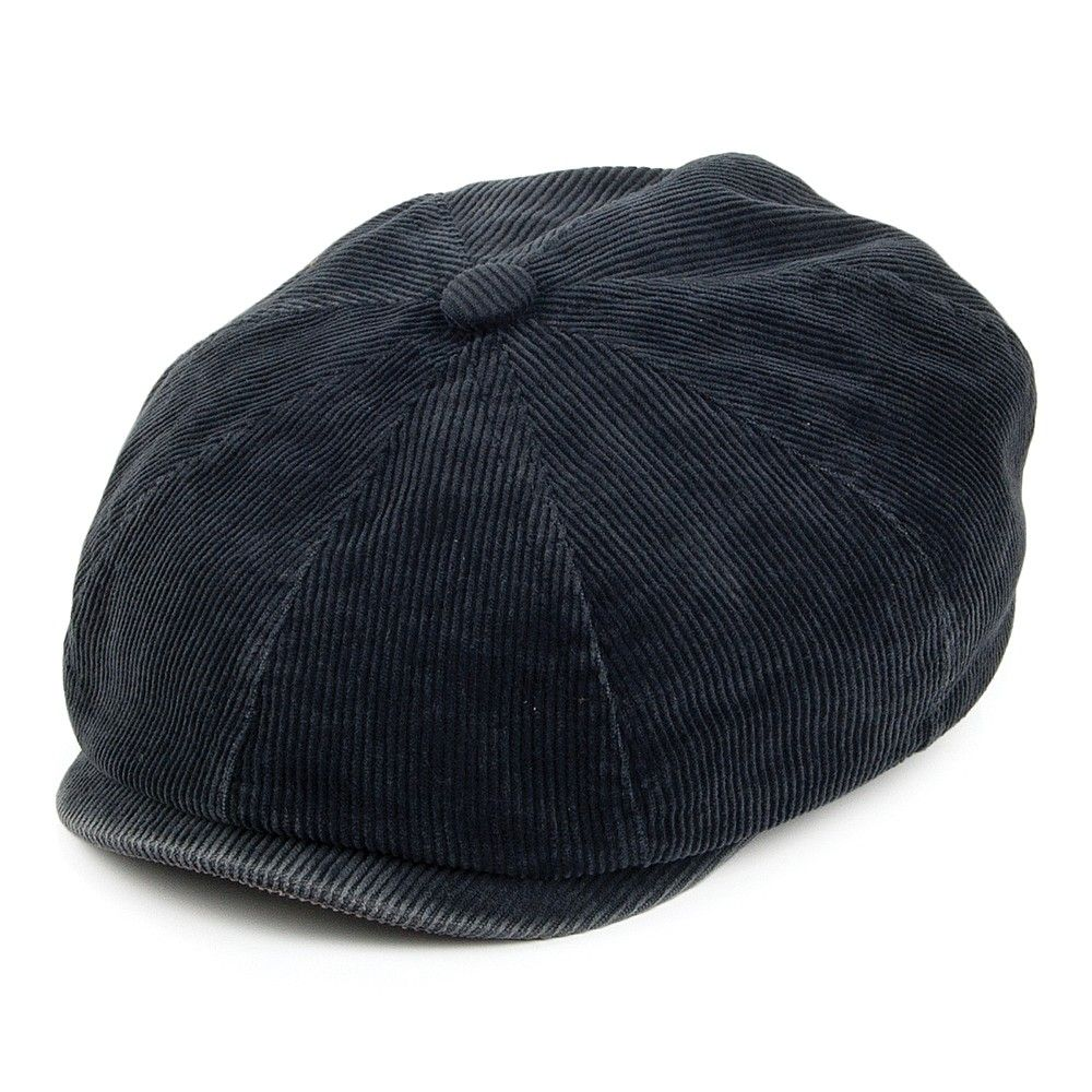Men/'s Navy Blue Newsboy Cap Cabbie Hat Flex Fit Button Bill One Size Fits Most