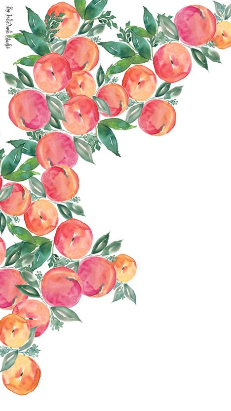 freewatercolorpeachwallpaperiphone.jpg (468×832