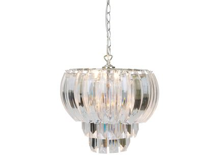 Aria Clear Layered Swag Ceiling Light – Laura Ashley Chandeliers