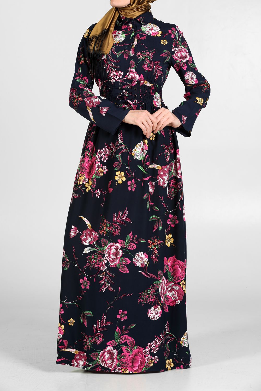 Allday Lacivert Beli Korsajli Elbise 272 40145 Modelini Incelemek Icin Lutfen Sayfamizi Ziyaret Ediniz Platya