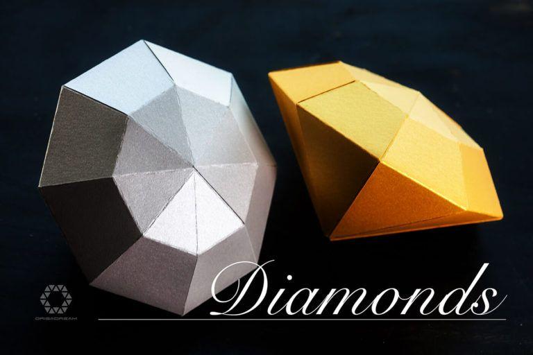 Diamond download papercraft free pdf templates