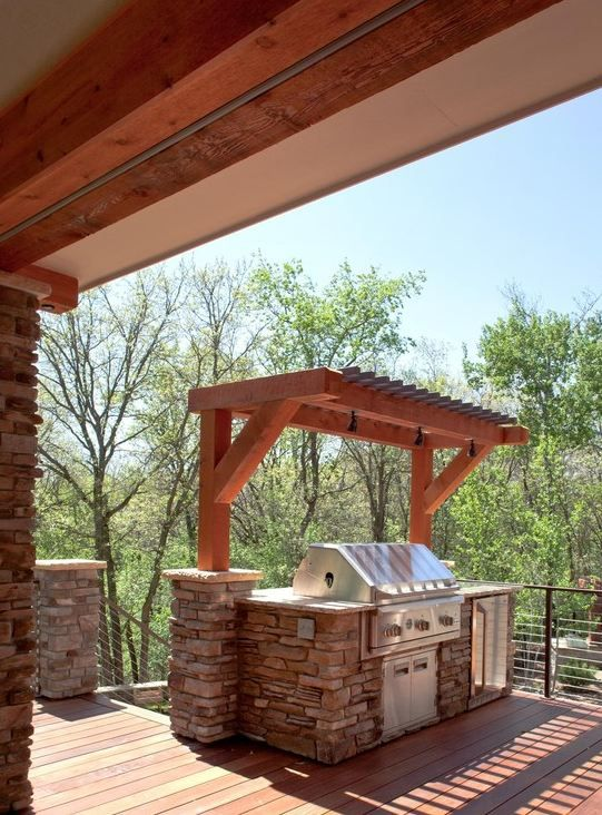 Shade Over Bbq Outdoor Kitchen In 2019 Outdoor Grill
