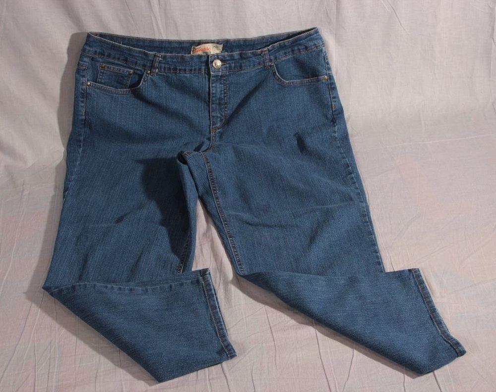 ba97b3f3380 Women s Classic jms Denim Stretch Pants Plus Size 22W Cotton Blend  Jms   Denim
