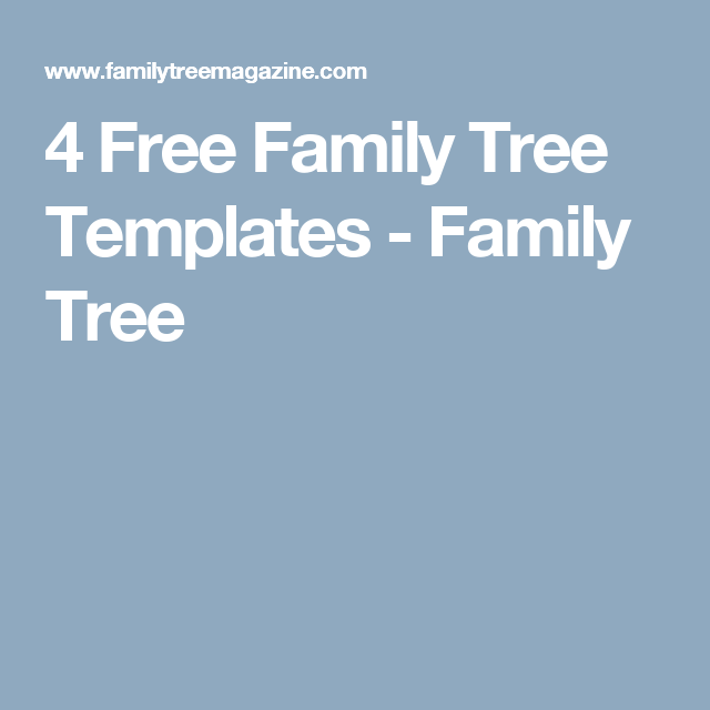 Free Family Tree Templates  Free Family Tree Template Free
