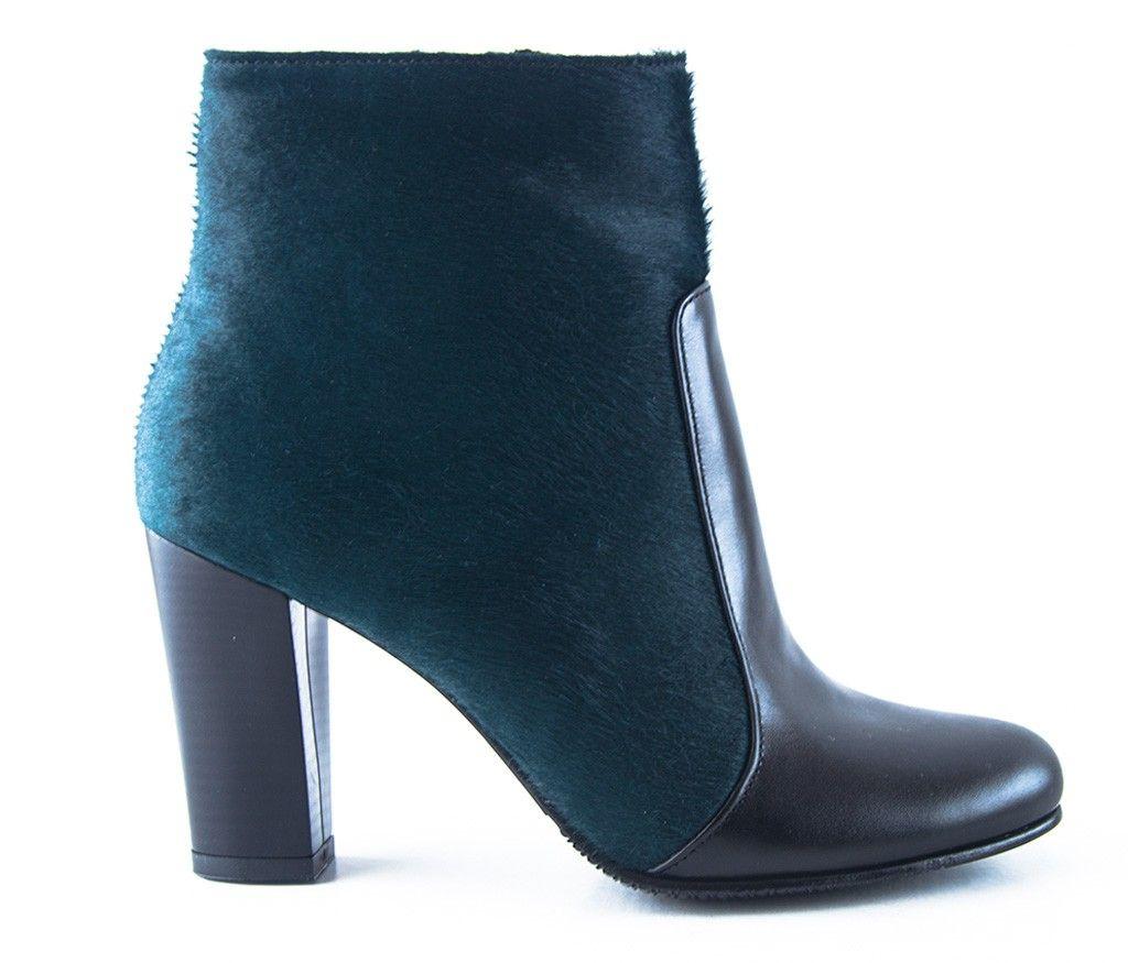 imagini detaliate disponibilitate Marea Britanie vânzări speciale Botine dama piele ponei verde smarald Melanie | Pantofi si Ghete ...