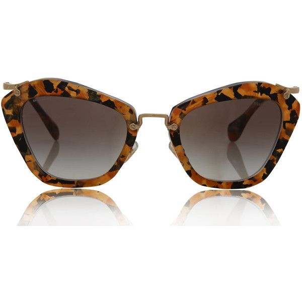 3024d33be4b Miu Miu Brown Tortoiseshell Noir Sunglasses ( 380) via Polyvore ...
