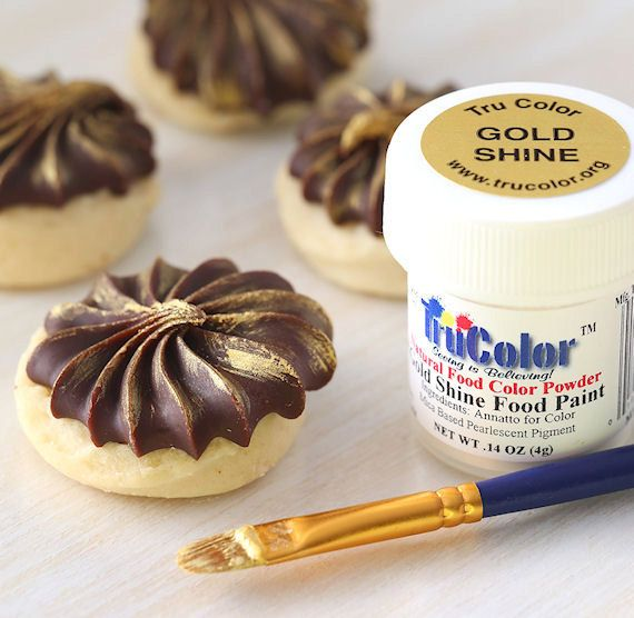Gold Food Paint Powder, TruColor Gold Shine Food Paint ...